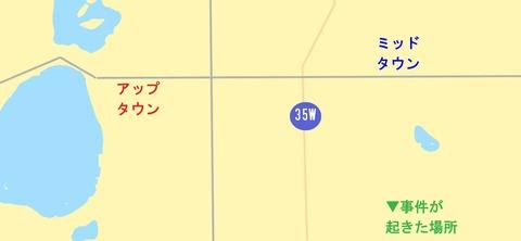 地図 アップタウン~ミッドタウン