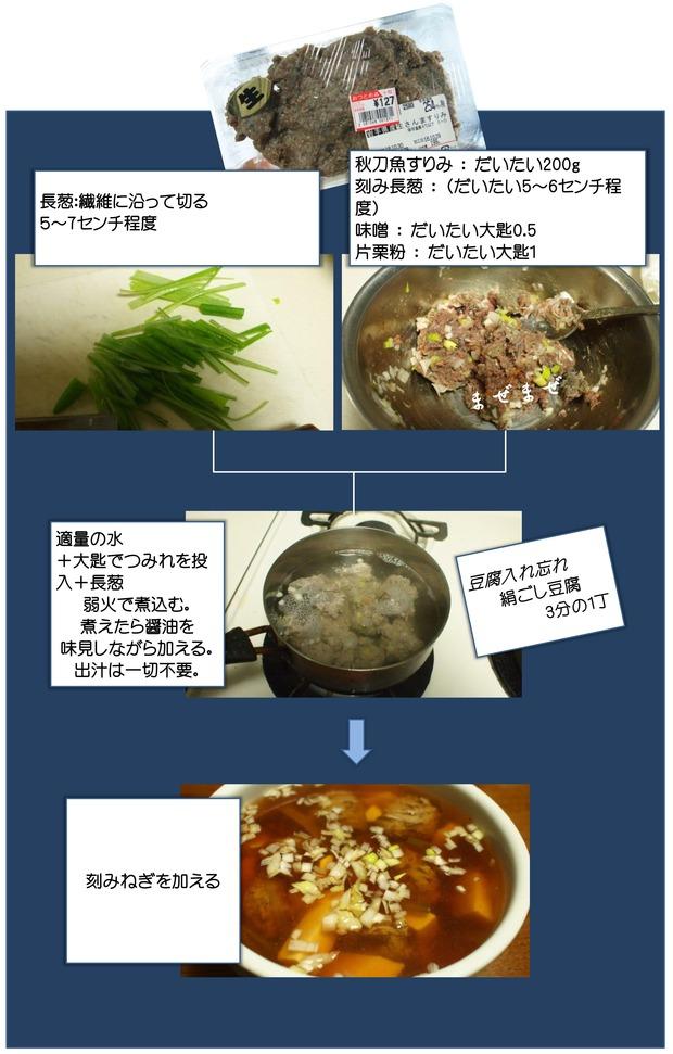 秋刀魚のツミレ汁