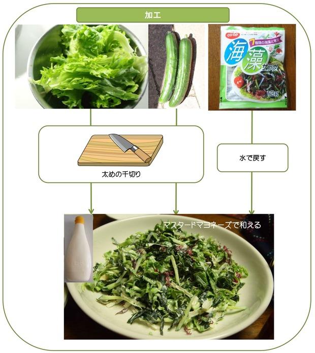 海藻サラダ加工