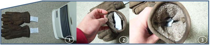 ホッカイロをより暖かく手袋編