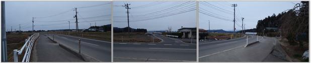 山神社社務所前の街道