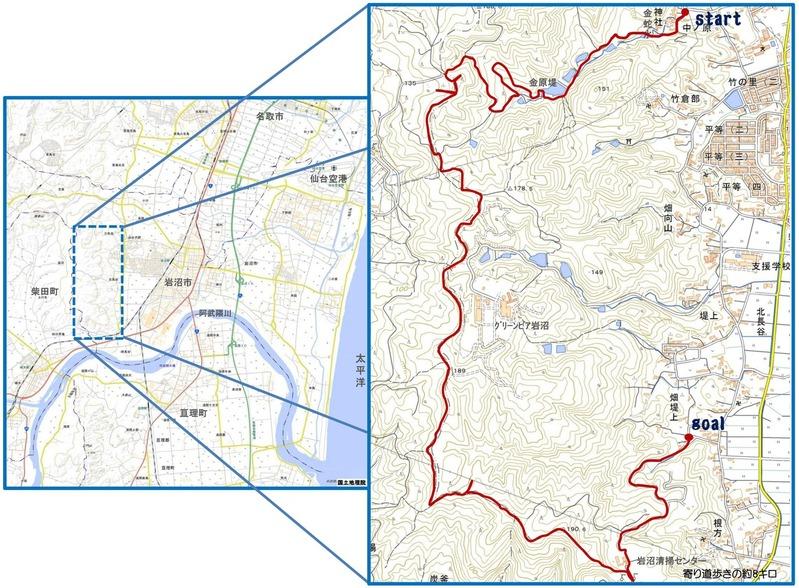 金蛇ー千貫ルート地図