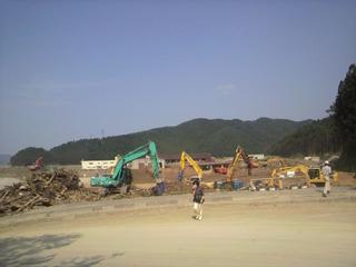 2011年7月25日大川小学校
