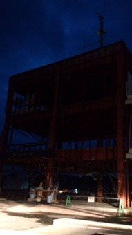 日没後の防災対策庁舎