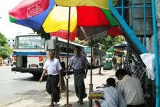 ミャンマー市街の様子