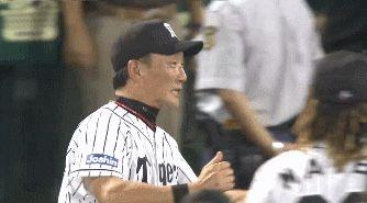 プロ野球関係のGIFで打線組んだwwwwww