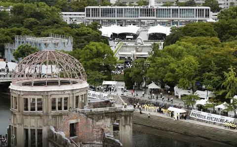 巨人小笠原、平和記念式典に乱入し爆発炎上