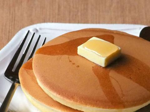 彡(^)(^)「ホットケーキつくったで」