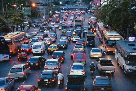 バンコク・夕方の渋滞