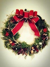 クリスマスリース作り