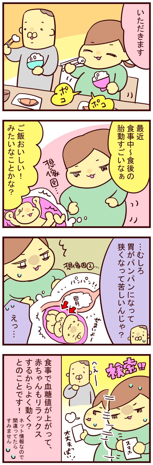 食後 胎動