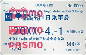 PASMO共通券_大人W
