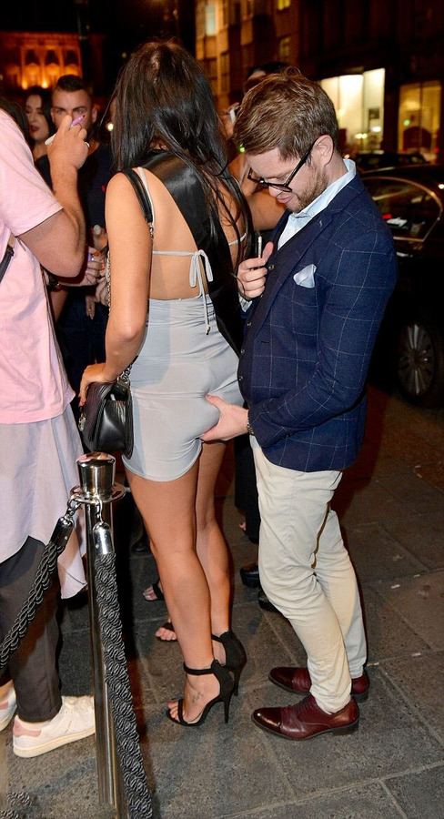 Chloe Ferry Pantie Upskirt on Drunk Night Out