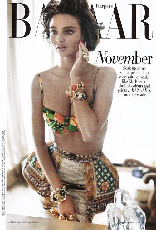 Miranda Kerr - Harper's Bazaar Australia November 2011 Nude (1)