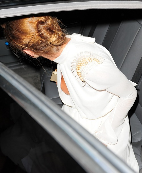 Rosie Huntington-Whiteley - Leaving Morton's Club (3)