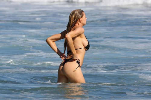 Charlotte McKinney Wearing a Bikini in Malibu on August 9073