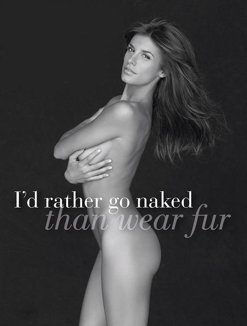 Elisabetta Canalis Nude PETA Ads 1