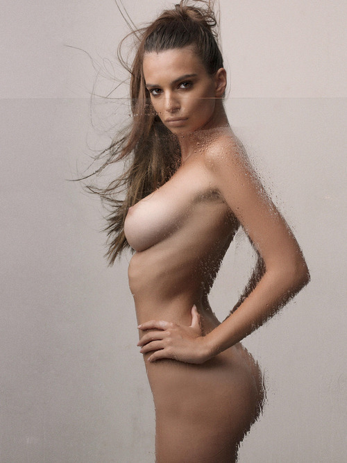 Emily Ratajkowski Wet Shower Topless Outtakes