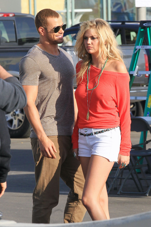 Kate Upton - set of PS for Abbot + Main in Venice Beach