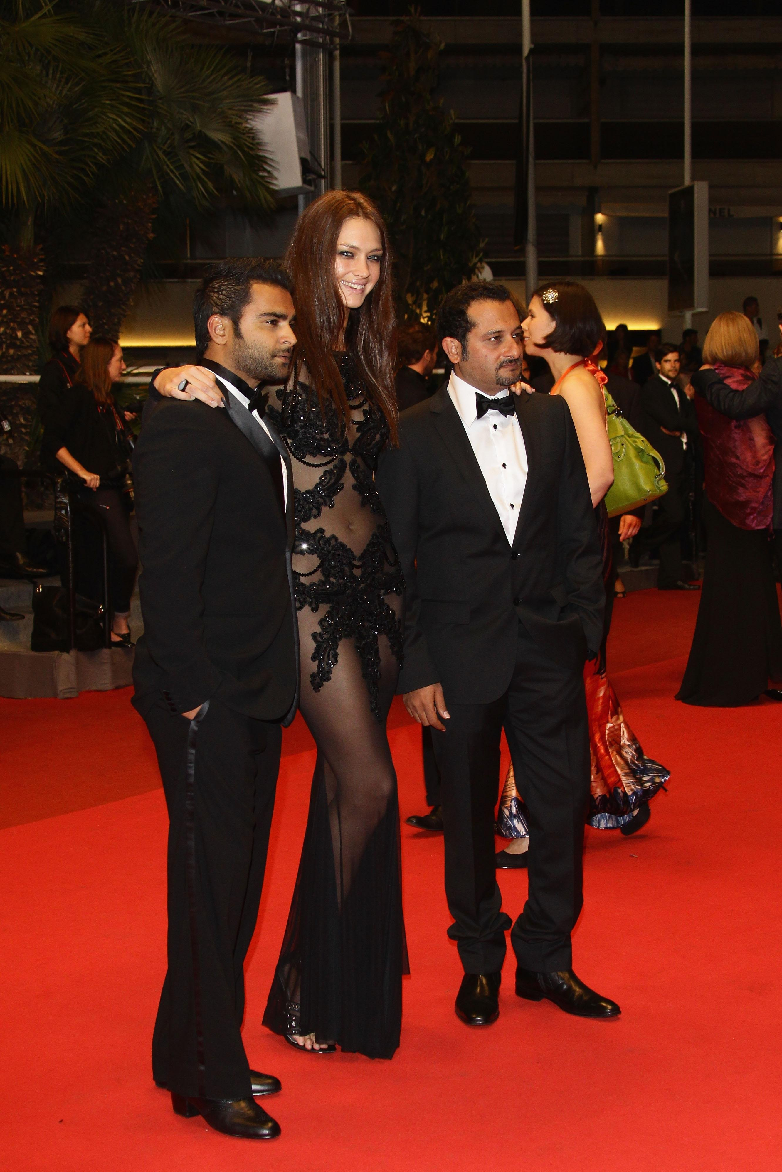 Candice Boucher-  Cannes in a See Through Dress May 13 11