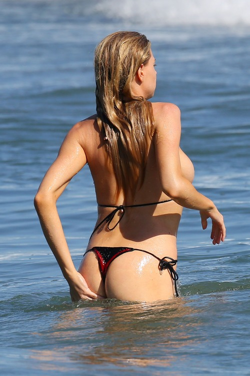 Charlotte McKinney Wearing a Bikini in Malibu on August 9027