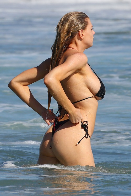 Charlotte McKinney Wearing a Bikini in Malibu on August 9016