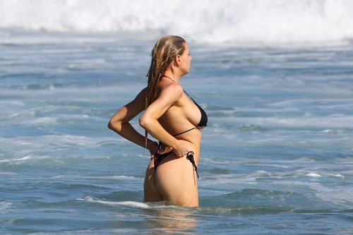 Charlotte McKinney Wearing a Bikini in Malibu on August 9070