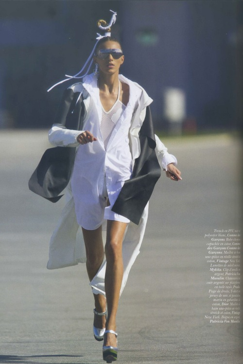 Anja Rubik  Topless In Vogue Magazine Paris 11