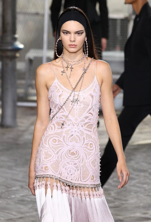 Kendall Jenner - See Thru Dress to Nips @ Givenchy Fashion Show - Paris June 26, 2015