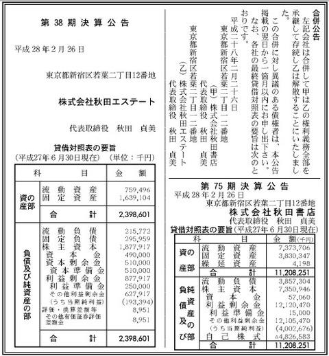 秋田書店_決算_少年チャンピオン