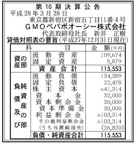 GMOペパボオーシー決算