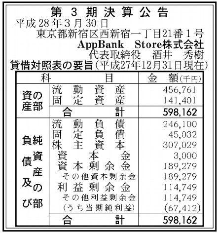 AppbankStore_決算