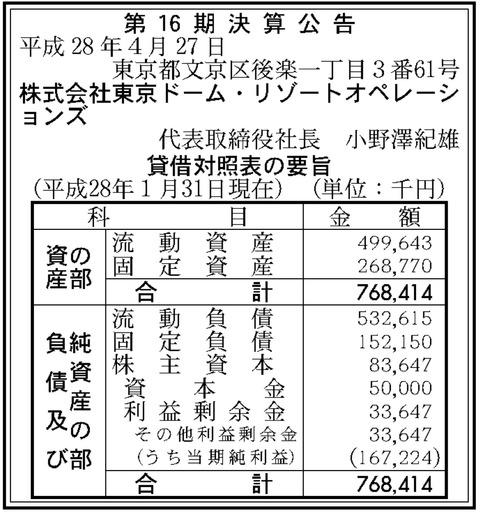 東京ドームリゾートオペレーションズ