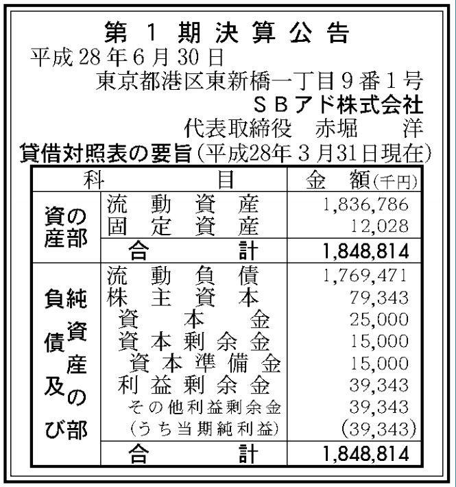 官報ブログ : ソフトバンク系メ...