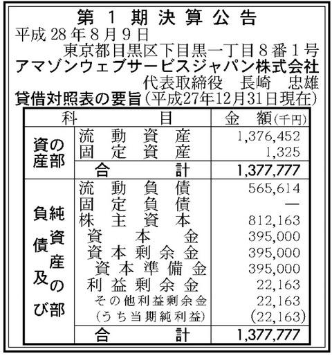 Amazonウェブサービスジャパン