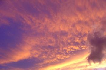 ホノルルの夕陽