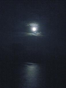 満月と海(小)