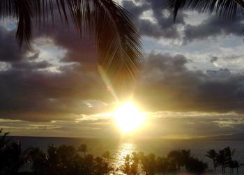 マウイの夕陽