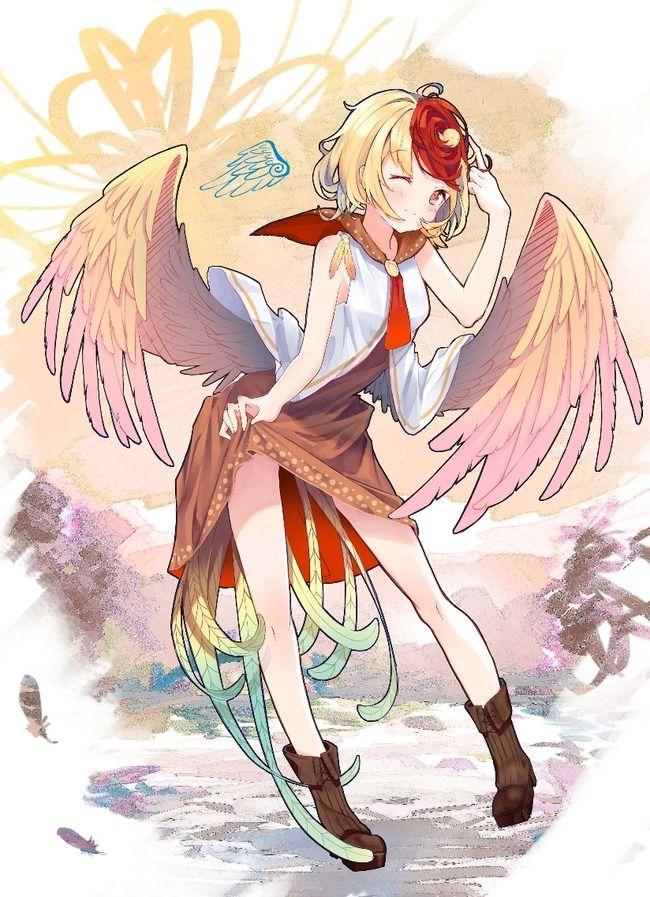 【東方】翼と尾羽が合わさって天使のごときビジュアル