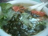春雨と冬菜、トマトのスープ