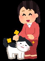 pet_natsukareru_cat_woman