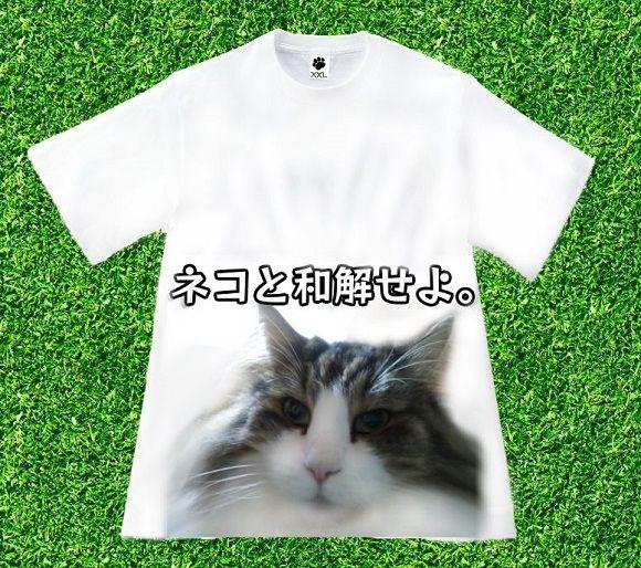 ネコと和解Tシャツ580