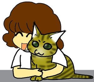 カイエさんとネコちゃん