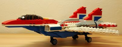 LEGO 可変後退翼機 脚出し_R
