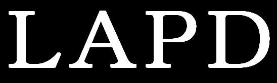 LAPD 白文字