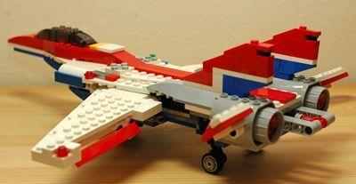 LEGO 可変後退翼機 翼開後ろ_R