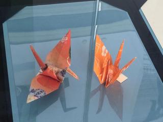オバマの折り鶴