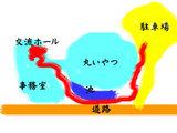 ハーモニーホール略図