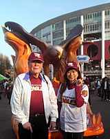 父と試合後