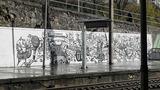コインブラB駅壁画